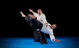 Combattants d'arts martiaux d'isolement photographie stock libre de droits