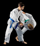 Combattants d'arts martiaux de garçons photos stock