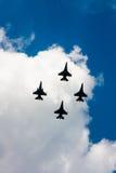 Combattants de combat du faucon F-16 images stock