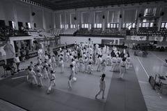 Combattants de Jiu Jitsu au championnat roumain, juniors, mai 2018 Images stock
