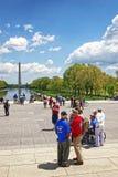 Combattants près de Lincoln Memorial Reflecting Pool photo stock
