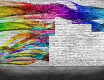 Combattendo con i graffiti illustrazione vettoriale