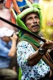 Combattente al festival di Pasola, Kodi, isola di Sumba, Nusa Tenggara fotografie stock
