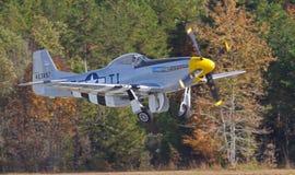 Combattente d'annata del mustang P-51 Fotografie Stock