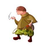 Combattente del ribelle/separatista del fumetto Fotografia Stock