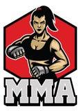 Combattente della donna delle arti marziali illustrazione di stock