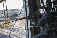 Combattente delle forze speciali russe fotografia stock libera da diritti