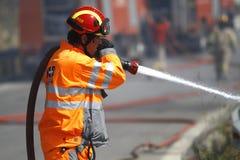 Combattente di fuoco Fotografia Stock