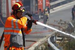 Combattente di fuoco Fotografia Stock Libera da Diritti