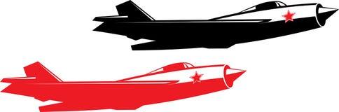 Combattente di jet sovietico Fotografie Stock Libere da Diritti