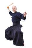 Combattente di Kendo Fotografia Stock