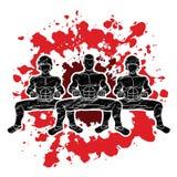 Combattente di Kung Fu, grafico del fumetto di azione di arti marziali illustrazione di stock