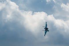 Combattente e bombardiere di Sukhoi Su-34 a MAKS Airshow 2015 Immagine Stock Libera da Diritti