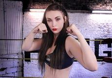 Combattente femminile Immagine Stock