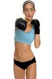 Combattente femminile di MMA fotografia stock libera da diritti