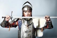Combattente medioevale Fotografie Stock