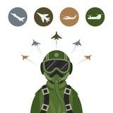 Combattente militare Jet Pilot Fotografia Stock