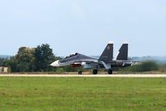 Combattente militare Su-27 Immagine Stock