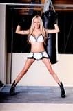 Combattente sexy di MMA immagine stock
