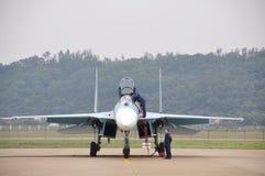 Combattente Su-27 Immagine Stock