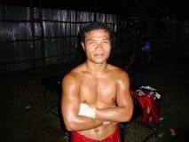 Combattente tailandese di Muay. Fotografia Stock