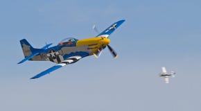 Combattenti d'annata del mustang P-51 Fotografie Stock Libere da Diritti