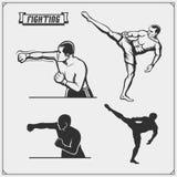 Combattenti delle arti miste marziali royalty illustrazione gratis