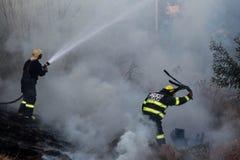 Combattenti di fuoco dalla città di Johannesburg Fotografia Stock