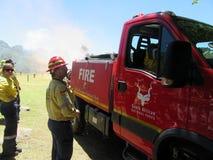 Combattenti di fuoco volontari immagini stock