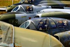 Combattenti di jet abbandonati Fotografia Stock