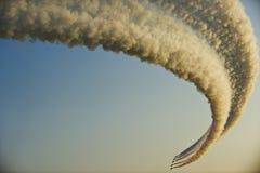 Combattenti di jet nella formazione durante l'esposizione di aria Fotografie Stock Libere da Diritti