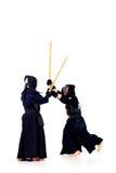 Combattenti di Kendo Fotografie Stock