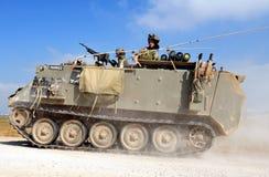 Combattenti israeliani nella striscia di Gaza del nord Fotografia Stock