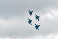 Combattenti militari Su-27 dell'aria Immagini Stock