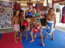 Combattenti tailandesi di Muay. Immagini Stock