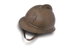 Combatti il casco delle truppe di scossa russe a WW1. Immagini Stock