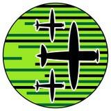 Combattimento aereo Immagini Stock