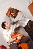 Combattimento del cuscino Fotografia Stock Libera da Diritti