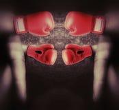 Combattimento del dito Immagini Stock