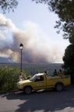 Combattimento dell'incendio forestale Immagini Stock