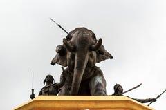 Combattimento della statua dell'elefante. Fotografia Stock Libera da Diritti