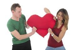 Combattimento delle coppie per l'amore Fotografia Stock