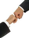 Combattimento delle mani degli uomini d'affari Fotografie Stock Libere da Diritti