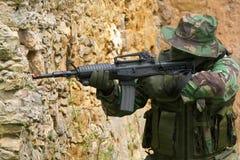 Combattimento di addestramento militare Fotografie Stock