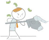 Combattimento di borsa valori Fotografia Stock Libera da Diritti