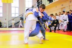Combattimento di judo Fotografia Stock