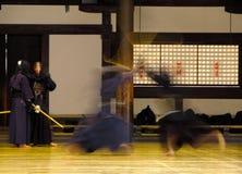 Combattimento di Kendo Fotografie Stock Libere da Diritti