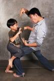 Combattimento divertente Fotografia Stock Libera da Diritti