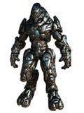 Combattimento Droid, isolato su bianco Immagini Stock Libere da Diritti