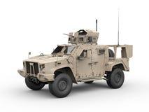 Combattimento leggero tutto il veicolo militare del terreno - vista laterale illustrazione vettoriale